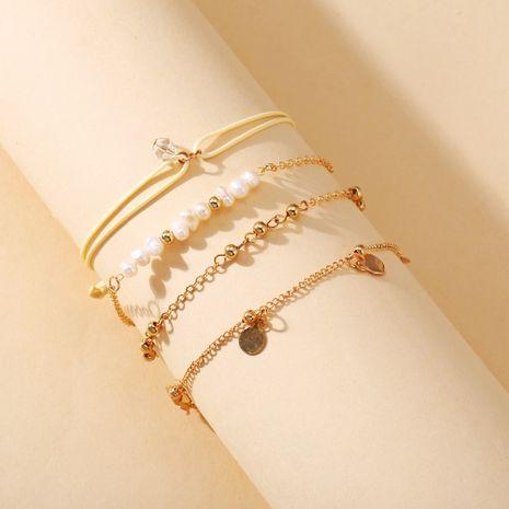 Nuevo conjunto de pulsera de cuentas redondas de perlas Conjunto de 4 piezas Conjunto creativo retro simple al por mayor nihaojewelry NHPJ236623's discount tags
