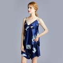 Fashion plus size pajamas womens home service silk sexy suspender shorts twopiece suit nihaojewelry NHJO236656