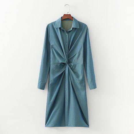 Mode été caméléon tencel denim robe chemise nouée femmes nihaojewelry NHAM236742's discount tags