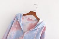 summer tiedye zipper hoodie womens hoodie jacket top wholesale nihaojewelry NHAM236744