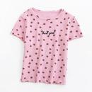 summer shortsleeved tightfitting shortprint strawberry Tshirt wholesale nihaojewelry NHAM236782