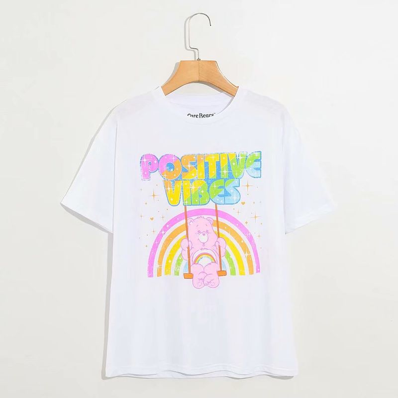 new fashion  love bear cartoon anime short sleeve T-shirt wholesale nihaojewelry NHAM236792
