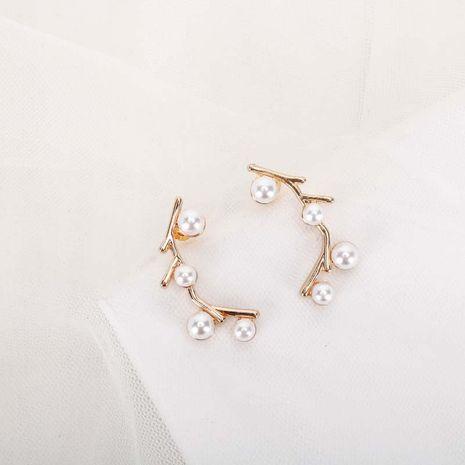 Mode nouvelle niche rétro boucles d'oreilles en alliage de perles coréennes femmes S925 boucles d'oreilles simples en argent aiguille nihaojewelry NHQS236827's discount tags