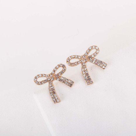 Nouveau mode arc-clouté diamant alliage S925 argent aiguille rétro niche boucles d'oreilles pour les femmes nihaojewelry NHQS236828's discount tags
