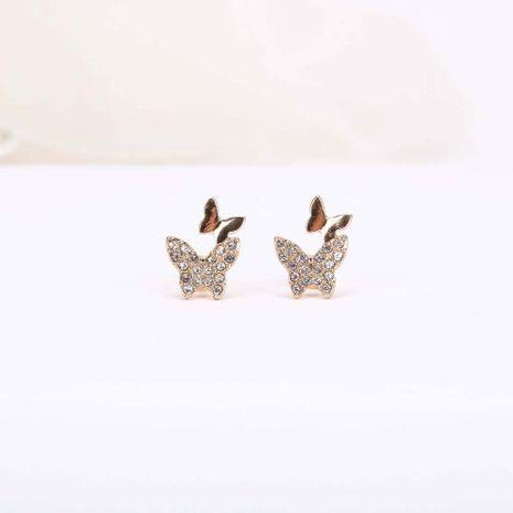Boucles d'oreilles papillon tendance nouveau style boucles d'oreilles simples en argent S925 NHQS236831's discount tags