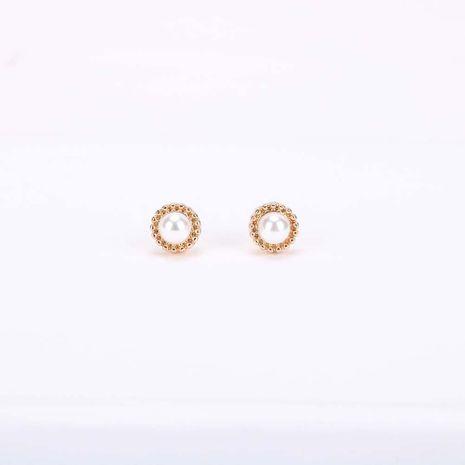 Mode nouvelle tendance boucles d'oreilles en perles s925 boucles d'oreilles en alliage simple en argent aiguille en gros NHQS236834's discount tags