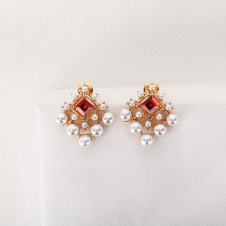 Mode nouvelle coréenne S925 boucles d'oreilles en alliage de perles d'aiguille d'argent boucles d'oreilles simples pour les femmes NHQS236835's discount tags