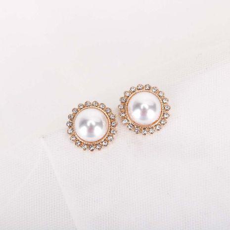 Mode coréenne nouveaux diamants de perles S925 boucles d'oreilles en alliage d'aiguille d'argent nihaojewelry NHQS236837's discount tags