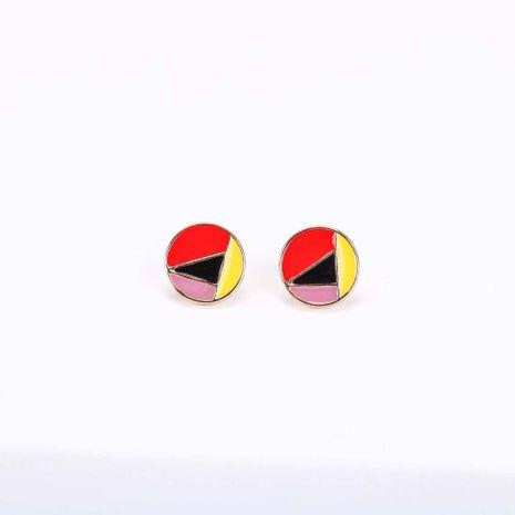 Corée nouveau S925 boucles d'oreilles en argent aiguille de mode Simple rétro géométrique couleur irrégulière dégoulinant boucles d'oreilles NHQS236842's discount tags