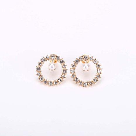 Rétro mode coréenne S925 argent aiguille perle en alliage micro incrusté de boucles d'oreilles en strass NHQS236843's discount tags