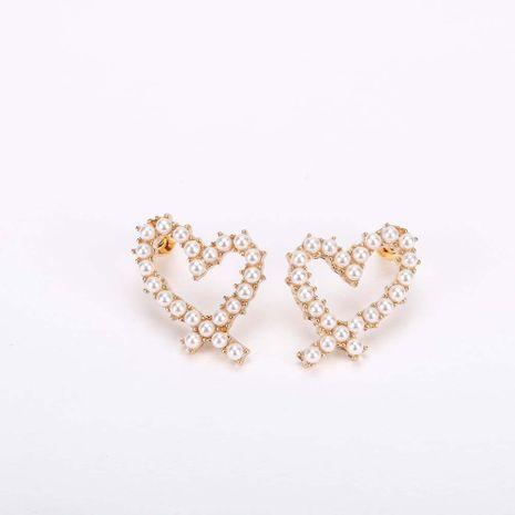 Mode S925 Aiguille En Argent Corée Amour Boucles D'oreilles De Perles Boucles D'oreilles En Alliage Simple Pour Les Femmes En Gros NHQS236847's discount tags