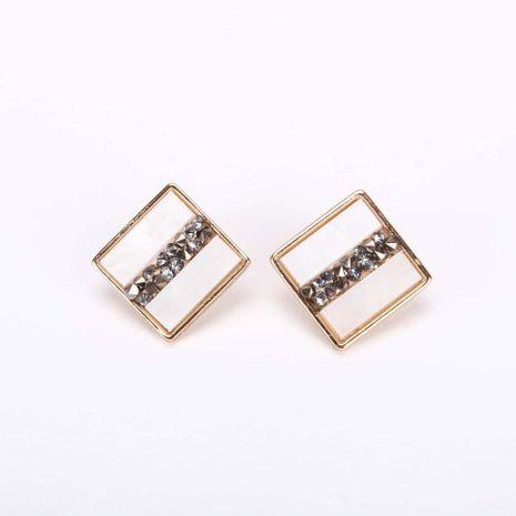 Boucles d'oreilles carrées en diamant coréen NHQS236846's discount tags