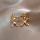Fashion petal alloy earrings Korean trendy earrings for women nihaojewelry wholesale NHXI236858