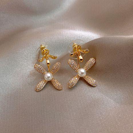 Boucles d'oreilles en alliage de pétale de mode Boucles d'oreilles à la mode coréenne pour les femmes nihaojewelry en gros NHXI236858's discount tags