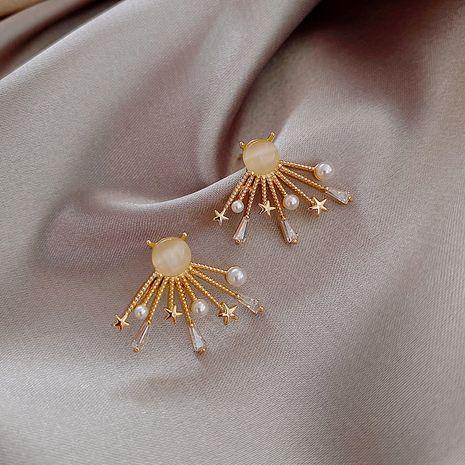 Mode 925 boucles d'oreilles en argent aiguille simple perle mode sauvage nouvelles boucles d'oreilles coréennes à la mode pour les femmes nihaojewelry NHXI236864's discount tags