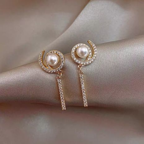 Mode S925 argent aiguille gyro perle boucles d'oreilles sucette coréenne boucles d'oreilles simples nihaojewelry en gros NHXI236865's discount tags