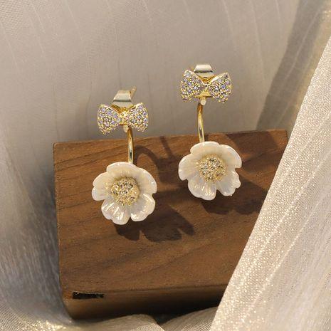 Boucles d'oreilles pour femmes Fashion Bowknot boucles d'oreilles fille coréenne super fée nihaojewelry en gros NHXI236868's discount tags