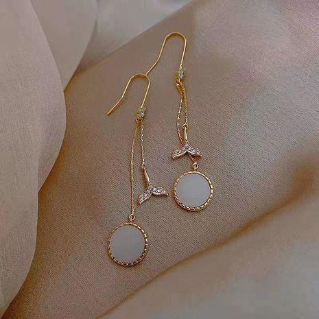 Mode queue de poisson longues boucles d'oreilles pompon nouvelles boucles d'oreilles à la mode boucles d'oreilles coréennes pour les femmes nihaojewelry NHXI236880's discount tags