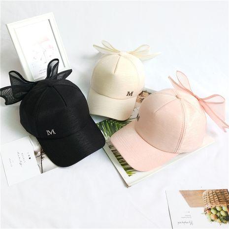 Fashion hat women bowknot M standard baseball cap summer Korean peaked cap fashion wild student nihaojewelry NHCM236929's discount tags