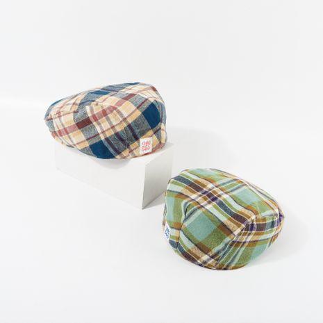 Moda color a cuadros vintage anti-boina mujeres transpirable nicho lengua de pato retro sombrero delantero NHTQ236941's discount tags