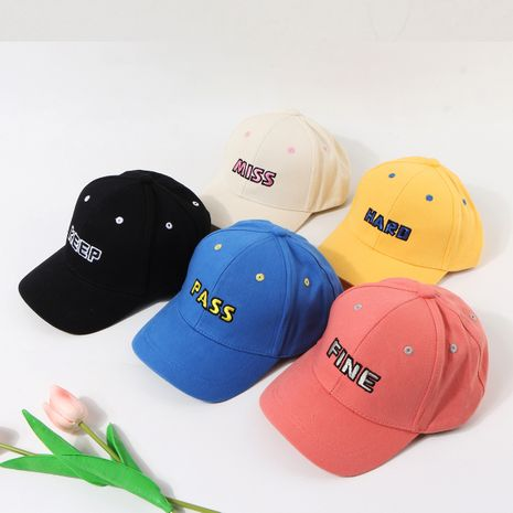 Children's hat baseball cap Korean new baby caps embroidery sunscreen sun hat wholesale nihaojewelry NHTQ236942's discount tags
