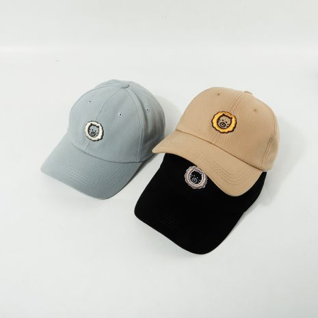 Fashion soft top baseball cap women Korean tide lion embroidery cap summer breathable curved brim hat ladies hat men nihaojewelry NHTQ236961's discount tags