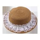 Fashion hat women summer sunscreen sun hat women lace flat straw hat Korean hot sun hat nihaojewelry NHTQ236963