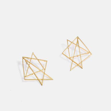 Boucles d'oreilles rétro irrégulières creuses en alliage géométrique simple fait à la main en gros nihaojewelry NHQS236826's discount tags