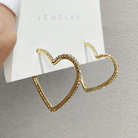 Boucles d'oreilles en alliage de mode micro-incrustées de zircon nouvelles boucles d'oreilles à la mode Boucles d'oreilles coréennes nihaojewelry NHXI236875's discount tags