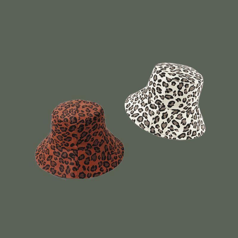 Fashion leopard fisherman hat women Korean wild cover face sunscreen literary niche hat nihaojewelry NHTQ236968