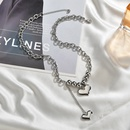 Korean simple love necklace for women fashion clavicle chain niche love pendant stainless steel geometric jewelry nihaojewelry NHHF237012