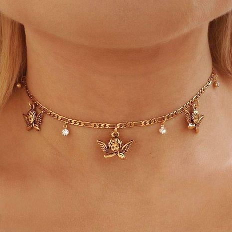 Mode offre spéciale mignon petit ange collier de femmes rétro ange bébé chaîne de clavicule nouveaux accessoires nihaojewelry NHDP237044's discount tags