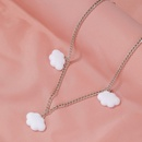 Fashion new cute cloud necklace simple cartoon clavicle chain alloy clavicle chain nihaojewelry NHDP237060