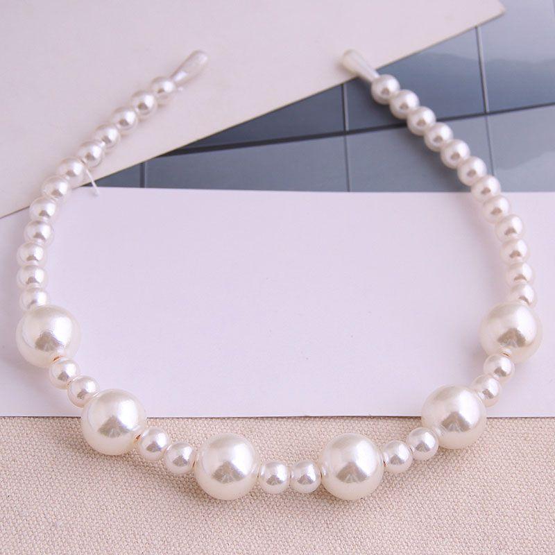 Mode corenne sauvage simple dames bandeau taille perle accessoire de cheveux bandeau en alliage NHSC237355