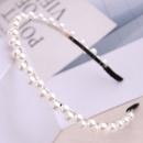 Korean fashion wild simple ladies headband irregular pearl hair accessories alloy headband NHSC237354