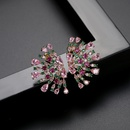 Flower Court Earrings Fashion Exaggerated Banquet Colored Copper Inlaid Zirconium Earrings wholesale nihaojewelry NHTM237111