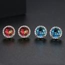 Korean fashion simple round tourmaline earrings wholesale nihaojewelry NHTM237133