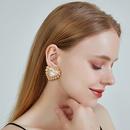 Fashion new ear jewelry alloy heartshaped earrings s925 silver needle earrings pearl love earrings for women nihaojewelry NHOA237157