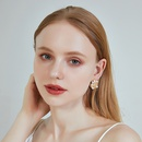 Fashion new earrings simple s925 silver needle Xshaped earrings cross pearl earrings alloy earrings nihaojewelry NHOA237159