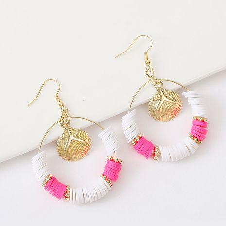 Bohème géométrique rondes boucles d'oreilles coquille en céramique souple tendance couleur boucles d'oreilles en perles bijoux en gros nihaojewelry NHLA237180's discount tags
