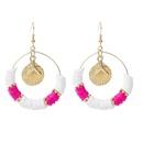 Bohemian geometric round soft ceramic shell earrings trend color beaded earrings jewelry wholesale nihaojewelry NHLA237180