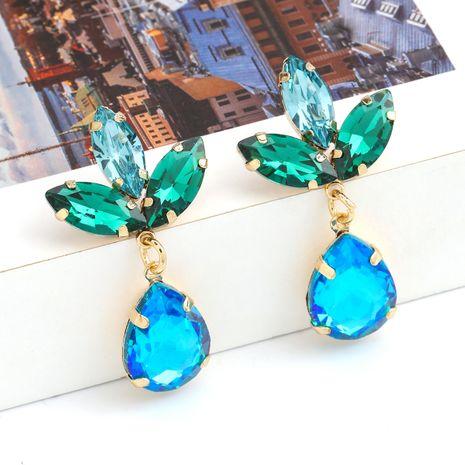 Boucles d'oreilles en verre en forme de goutte en forme de goutte en alliage multicouche de série de couleurs de mode nihaojewelry NHJE237194's discount tags