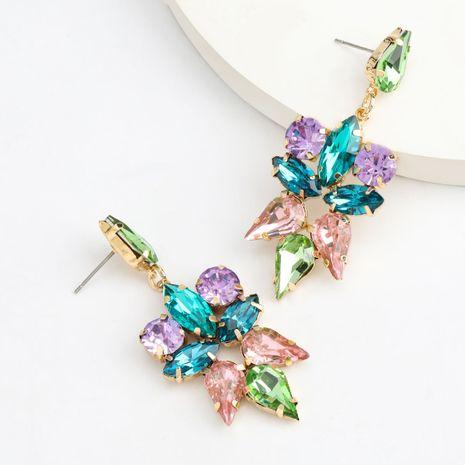 Boucles d'oreilles en verre serti de diamants en alliage multicouche série de couleurs de mode en gros nihaojewelry NHJE237196's discount tags