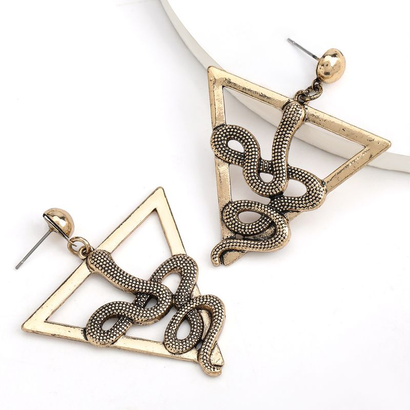 creative triangle alloy snake earrings alternative earrings wholesale nihaojewelry NHJE237200