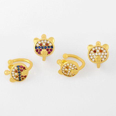 new Korean ear clips without pierced cute little bear ear clip jewelry simple earrings wholesale nihaojewelry NHAS237204's discount tags