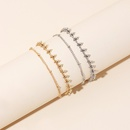 Korean hot sale simple round bead anklet doublelayer anklet girls chain anklet jewelry nihaojewelry NHRN237210