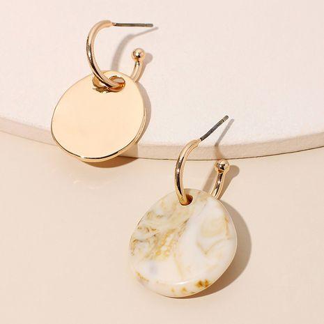 Boucles d'oreilles rondes lisses géométriques simples pour femmes boucles d'oreilles baroques de mode marée pour femmes nihaojewelry NHRN237212's discount tags