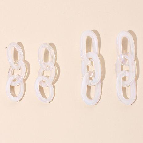 Mode acrylique chaîne gland boucles d'oreilles rétro mode longues boucles d'oreilles à trois anneaux pour les femmes en gros nihaojewelry NHRN237219's discount tags