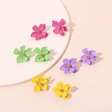 Candy Color Colorful Cute Flower Earrings Korea Style Fashion Childlike Earrings wholesale nihaojewelry NHRN237226's discount tags