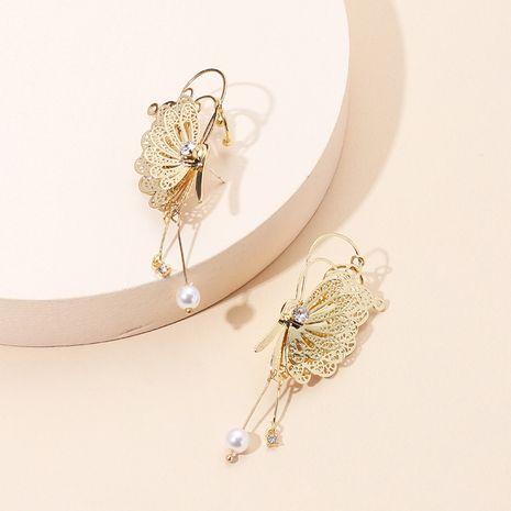Mode nouveau clip d'oreille papillon en trois dimensions fée à la mode sans boucles d'oreilles percées boucles d'oreilles gland oreille clip en gros nihaojewelry NHRN237236's discount tags